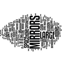 Large mirrors text background word cloud concept vector