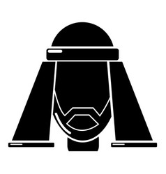 man egypt icon simple black style vector image vector image