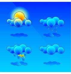 Meteorology symbols vector