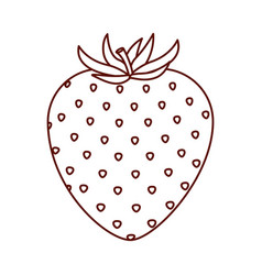 Monochrome silhouette of strawberry fruit vector