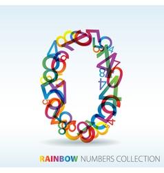 rainbow zero vector image vector image