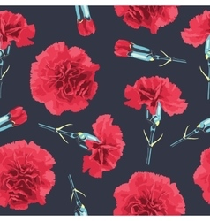 Seamless pattern carnations flowers vector image vector image