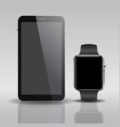 smart electronic intelligence watch phone vector image vector image