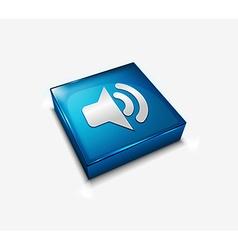 speaker web icon vector image vector image