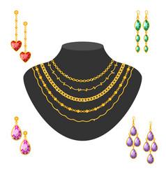 traditional golden jewellery bangles diamond vector image vector image