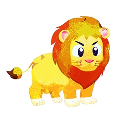 Watercolor peacok lion isolated on white vector