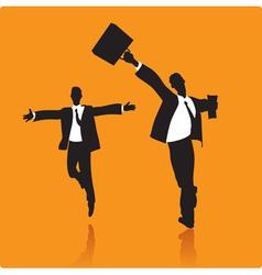 Lucky businessmen vector image