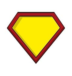 Hero shield isolated icon vector