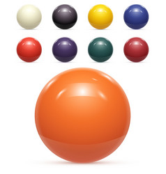 Set of colorful balls isolated vector