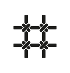 The prison bars icon grid symbol flat vector