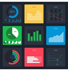 Set of business charts vector