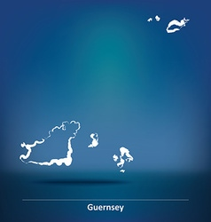 Doodle map of guernsey vector