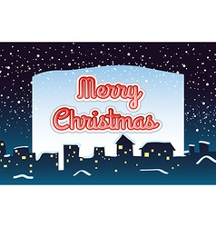 Christmas card with snow falling background vector image
