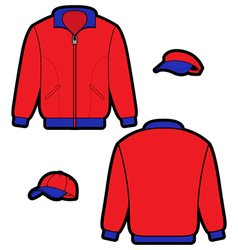 sports jacket vector image
