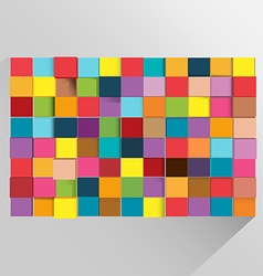 Cube background abstract modern color vector