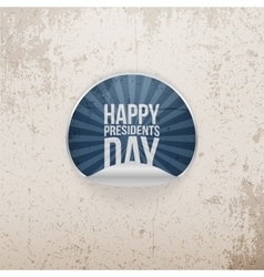 Sticker with happy presidents day text vector