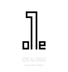 Number one sign corporate logo design template vector