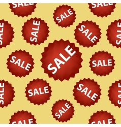 Seamless pattern with red sale signs vector