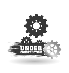 Under construction design work vector