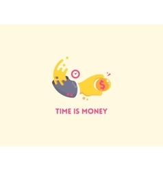 Time is money concept icon vector image