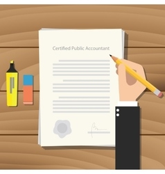 Cpa certified public accountant vector