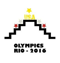 Usa in rio olympics vector
