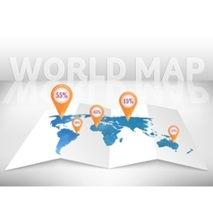 Abstract creative concept map of the world vector image