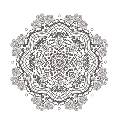 abstraction baby circular mandala vector image