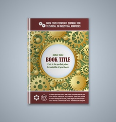 Brochure cover template vector image vector image