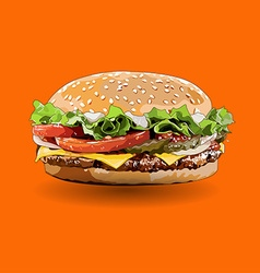 Burger zoom out vector