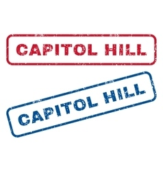 Capitol hill rubber stamps vector