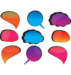 Cool speech bubbles vector image vector image