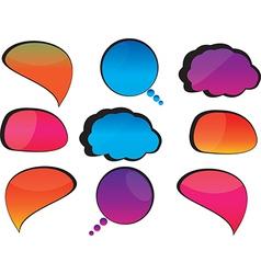 Cool speech bubbles vector image vector image
