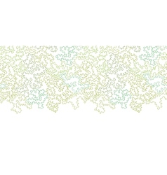 Curly doodle shapes horizontal border seamless vector