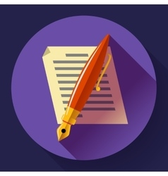 Edit document sign symbol icon Flat vector image