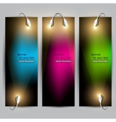 empty placard for product advertising with lightin vector image vector image