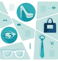 Fashion flat infographic vector image