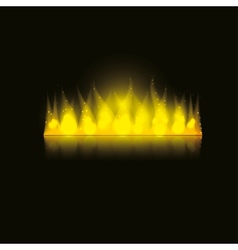 fire in the dark vector image