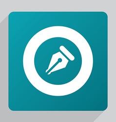 flat pen icon vector image vector image