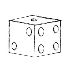Gambling dice isolated vector