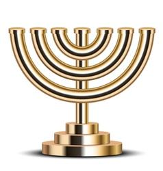 Gold menorah vector