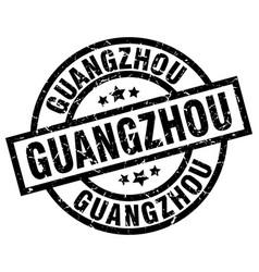 Guangzhou black round grunge stamp vector