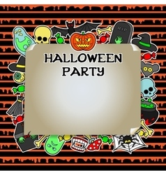 Halloween party mock up vector