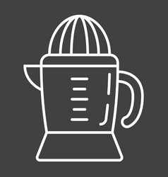 Han juicer line icon household and appliance vector