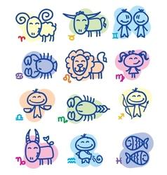 Hand drawn zodiac signs vector