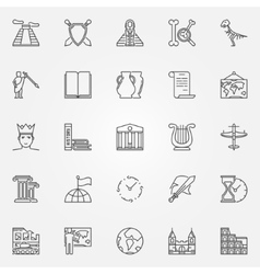 History icons set vector