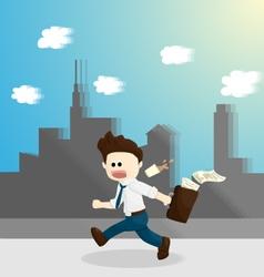 Hurry time salary man cartoon lifestyle vector