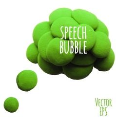Icon of plasticine speech bubble vector image vector image