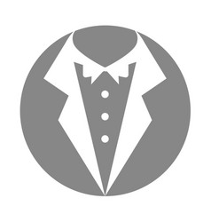 male wedding dress icon vector image