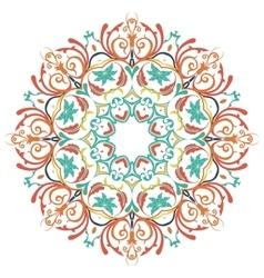 Mandala round colored ornament pattern vector